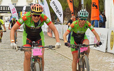 Desi Castro y Tamara Sánchez (Extremadura-Ecopilas) confirman su primer podio en Algarve Bike Challenge