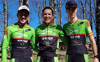 Sánchez, Periáñez y Barquero ganan en el Cerro de la Cruz y son más líderes del Open de Extremadura XCO