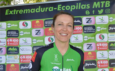 """Tamara Sánchez, ciclista del Extremadura-Ecopilas MTB: """"La ilusión por competir no se ha perdido en el equipo y cuando vuelvan las carreras estaremos listos para darlo todo"""""""