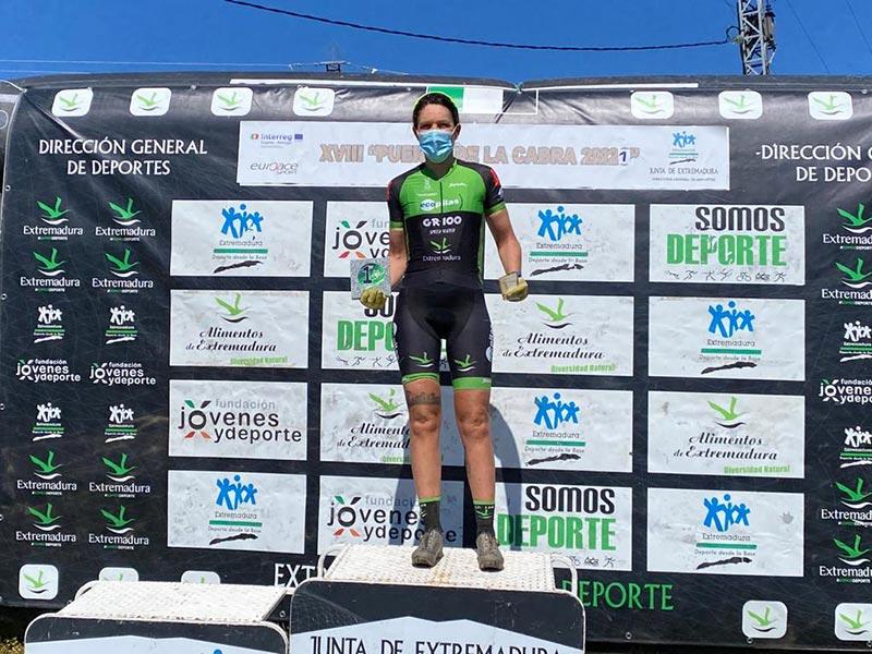 Tamara en lo más alto del podio de Quintana de la Serena