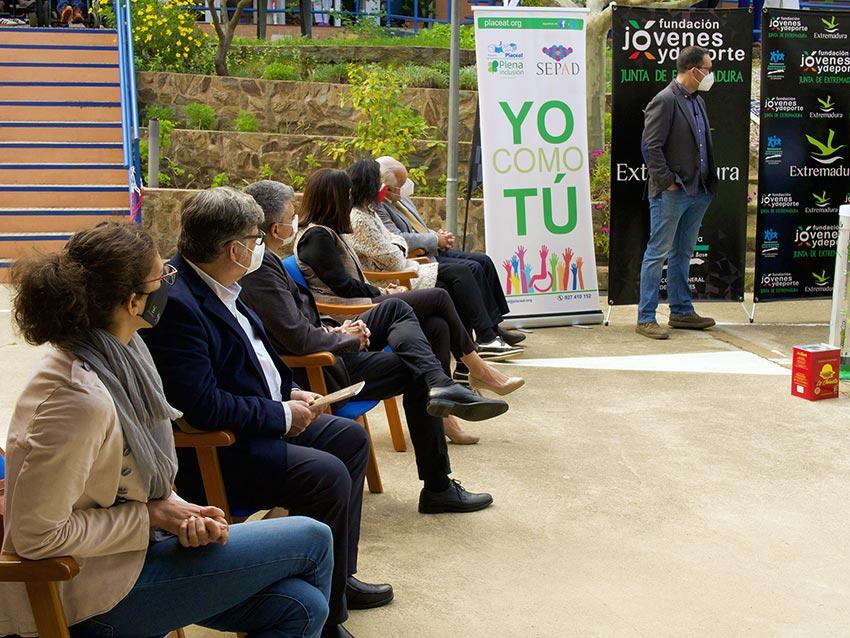 Autoridades presentacion ExtremaduraEcopilasMTB2021